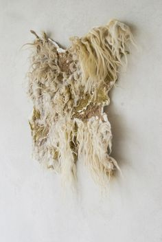 Felted rug wall hanging textile art by vilte