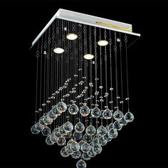 Crystal RainDrop Chandelier PL337 Entry Chandelier, Cheap Chandelier, Entry Lighting, Crystal Chandelier Lighting, Flush Mount Lighting, Chandeliers, Lamp Light, Light Bulb, Ceiling Lamp