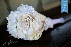 Burlap Flower Bouquet, unique alternative to flowers Photo by Joey Ikemoto