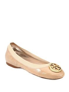 Tory Burch - Caroline Patent Leather Logo Ballet Flats
