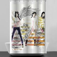 2013 modern design shower curtain with hookless, View hookless shower curtain, lemna Product Details from Ningbo Lemna Household Products Co., Ltd. on Alibaba.com