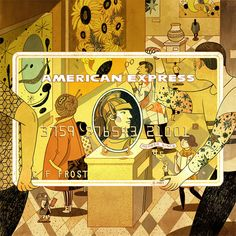 American Express Card Art Victo Ngai I got to work on this really fun project with American Express to interpret their three cards. I want to tell a story while playing and interacting with the Amex. Graphic Design Illustration, Digital Illustration, Chinese Fairy Tales, Amex Card, Storyboard Artist, Character Creation, Typography Prints, Illustrations And Posters, Fun Projects