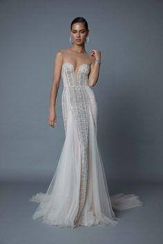 F/W 2019   Berta - Blue Wedding Dresses, Bridal Dresses, Prom Dresses, Formal Dresses, Wedding Blue, Belle Silhouette, Oscar Dresses, Special Dresses, Designer Gowns