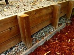 Ahmed shows how to build an easy and affordable wooden retaining wall.