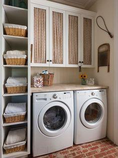 coole einrichtungsidee für kleine waschküchen