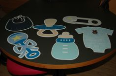 Extra Large cutouts for baby shower clothesline  #cricut