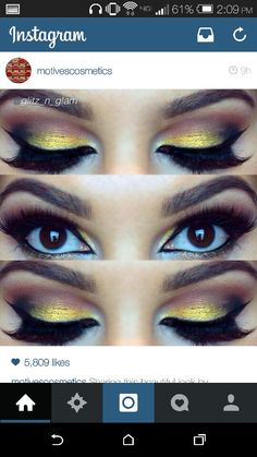 Lovely yellow makeup