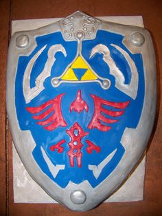 Hylian Shield Cake. Legend of Zelda. Video Game Cake