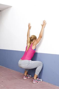 Träningsövning för rumpa och rygg