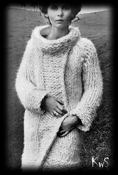 Vintage 60s MOD Knitted MOODY Coat PDF Pattern  by KinsieWoolShop, $3.20