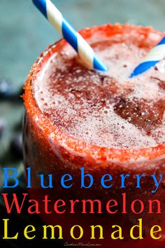 Southern Mom Loves: Blueberry Watermelon Lemonade {Recipe}