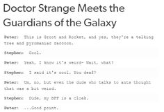 Doctor Strange meets the Guardians of the Galaxy