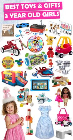 See over 200 great gift ideas for 3 year old girls.