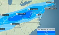 New winter storm to blanket Kentucky and Tennessee with snow - then head east to smash snowfall records