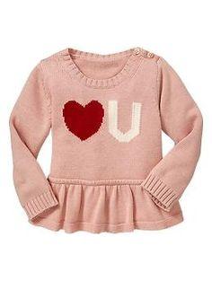 Heart peplum sweater | Gap
