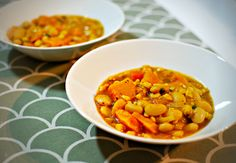 Vegan squash, bean and corn stew White Beans, Vegan Recipes Easy, Chana Masala, Squash, Stew, Food Porn, Good Food, Ethnic Recipes, Autumn