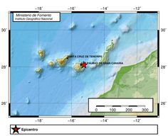 Terremoto cerca Gran Canaria, Atlántico Canarias 7 diciembre