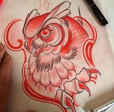 Owl Designs, Tattoo Sketches, School Design, Photography Poses, Tattoo Designs, Honey, Dragon, Bird, Drawings