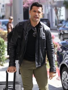 Mark Consuelos Photos Photos - Actor Mark Consuelos is spotted out shopping in Beverly Hills on March 07, 2016. Mark had a roll-a-long luggage with him while shopping. - Mark Consuelos Spotted Out in Beverly Hills