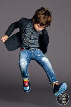 MOMOLO   moda infantil   Deportivas / Zapatillas Dolce & Gabbana, Pantalones Vaqueros / Jeans Dolce & Gabbana, Camisas Dolce & Gabbana, Americanas / Blazers Dolce & Gabbana, niña, 20150527005609