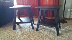 Angled legs End tables