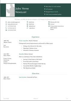 templates of a cv