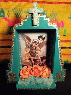 Shrine-Nicho-Altar Retablo. Archangel Michael by BrujaStudios