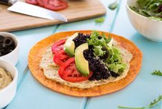 Hummus Wraps with Grains and Greens