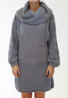 Knit dress Rib neck Soft texture Loose fit, one size by Ioanna Kourbela  #dress #kourbela #greek4chic