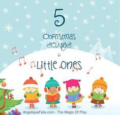 5 bilingual #christmas songs for little ones - 5 canzoncine bilingue per #Natale | AngeliqueFelix.com @buzzmyvideos