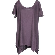 Ra-re T-shirt ($52) ❤ liked on Polyvore featuring tops, t-shirts, purple, ra-re, short sleeve tops, purple top, purple tee and purple t shirt