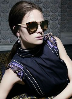 985efe21b29 Ine Neefs for Prada Spring Summer 2015 available at Eye Class Optometry in  Calgary Alberta. Sunglasses ...