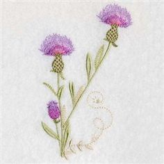 Premium Embroidery Embroidery Design: Thistles 4.96 inches H x 2.83 inches W