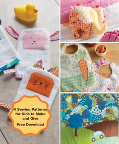 Adorable! 4 Free Sewing Patterns for Babies and Kids.. perfect for gifting