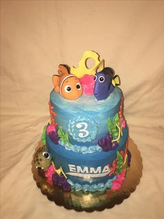 Finding Dory nemo cake by Inphinity Designs. Please like my FaceBook page  Inphinity Designs by Kandy Lloyd to order. Located in San Antonio, Tx.