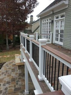 Why should you build a deck? Why should you check many deck railing ideas? Well, we guess that you are about constructing a deck. It is good to do so because the deck is a nice addition that will… Deck Railing Design, Patio Deck Designs, Patio Ideas, Landscaping Ideas, Outdoor Landscaping, Porch Ideas, Yard Ideas, Deck Railing Ideas Diy, Patio Design