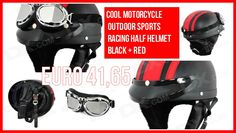 Cool Motorcycle Outdoor Sports Racing Half Helmet - Black + Red from 79,95 for Euro 41,65