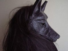 Animal mask Paper mache animal mask Masquerade mask by EpicFantasy