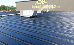 Liquid Rubber Coating Red Deer Alberta To Industrial Metal Roof. The article is the reports from the field as the liquid rubber coating is being applied. Red Deer Alberta, Flat Roof Repair, Bragg Creek, Roofing Supplies, Roof Coating, Industrial Metal, Metal Roof, Calgary, Outdoor Decor
