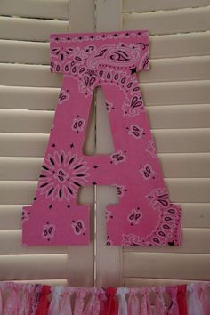 Decorated letter at a cowgirl birthday party! See more party planning ideas at CatchMyParty.com!