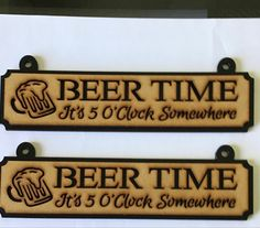 Two beer time plaques £10 Boho Bedroom Diy, Tractors For Sale, Craft Markets, Oclock, Party Gifts, Laser Cutting, Diy Room Decor, Etsy Seller, Beer