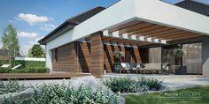 Projekt domu HomeKONCEPT-26 | HomeKONCEPT Construction, House 2, Store Fronts, Modern House Design, Building A House, House Plans, Pergola, Villa, New Homes