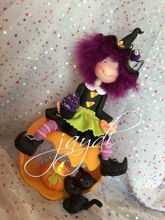 Porcelain China Mugs Key: 6346364734 Halloween Clay, Halloween Arts And Crafts, Halloween Patterns, Holiday Crafts, Happy Halloween, Diy And Crafts, Clay Jar, Clothespin Dolls, Pasta Flexible