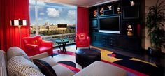 Mickey Mouse Pent House Signature Suite - Disneyland  Can my house please please look like the Mickey penthouse????