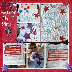 Mama Of Many Blessings: DIY Forth Of July T-Shirts