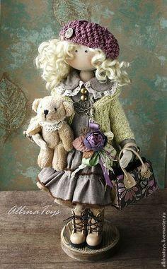 Коллекционные куклы ручной работы. Иоланда. По мотивам. ALBINAToys.. Ярмарка Мастеров. Текстильная кукла, кудри, трикотаж с эластаном