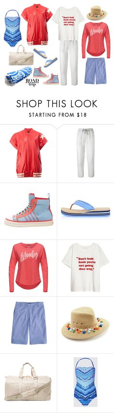 """""""Road Trip"""" by musicfriend1 ❤ liked on Polyvore featuring Faith Connexion, Le Tricot Perugia, Chanel, Tory Burch, The North Face, J.Crew, Eric Javits, Herschel Supply Co., lovethis and roadtrip"""