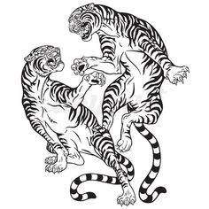 Kunst Tattoos, Body Art Tattoos, Tattoo Drawings, Small Tattoos, Sleeve Tattoos, Tattoo Ink, Hand Tattoos, Japanese Tiger Tattoo, Japanese Tattoo Designs