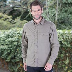 Men's Sun Protection Travel Trekker Shirt, Long sleeve