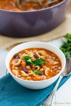 Vegetarian Pasta Fagioli via LittleFerraroKitchen.com by FerraroKitchen1, via Flickr
